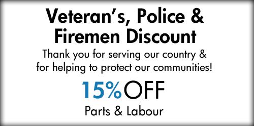 Veteran's, Police & Fireman Discount