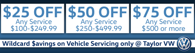 Wildcard $avings on Vehicle Servicing!