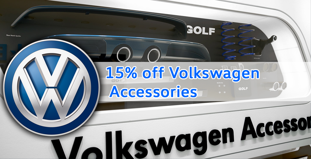 15% off VW Accessories