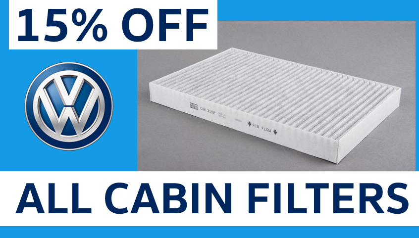 Save 15% off Cabin Filters!