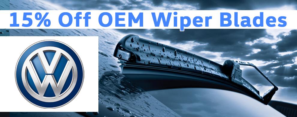 Save 15% off Wiper Blades