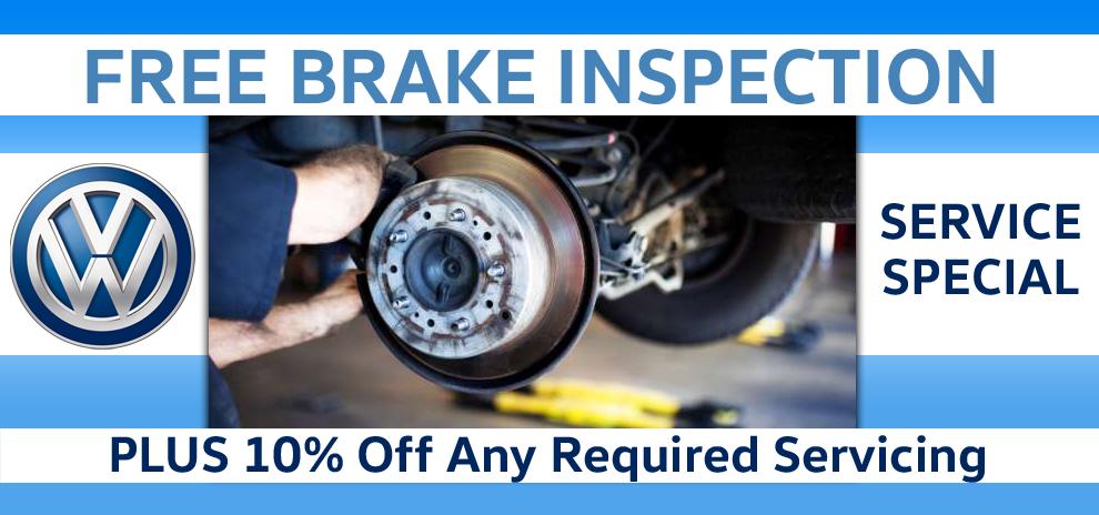 Free Brake Inspection + 10% Off Brake Servicing
