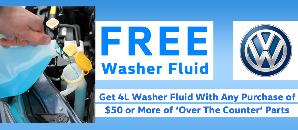 Free Washer Fluid!
