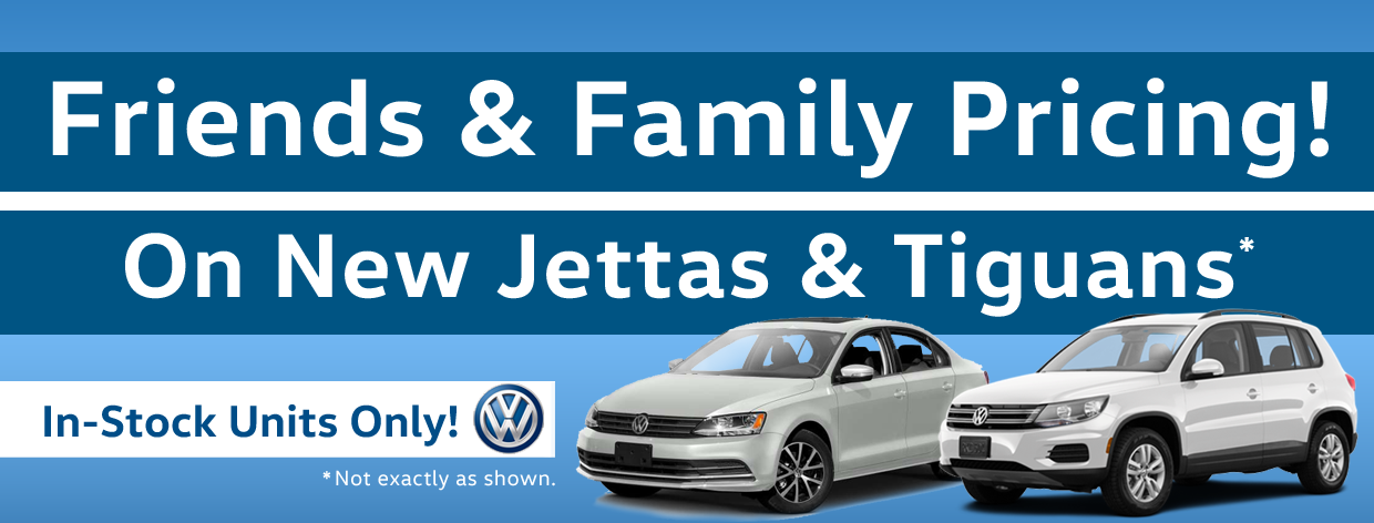 Tiguan & Jetta family pricing - secondary