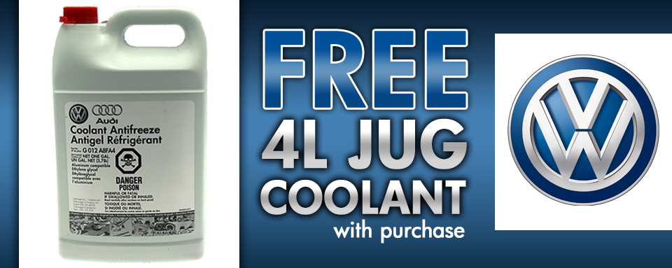 FREE 4L Jug of Coolant!