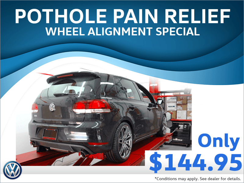 Pot Hole Pain Relief – Wheel Alignment Special