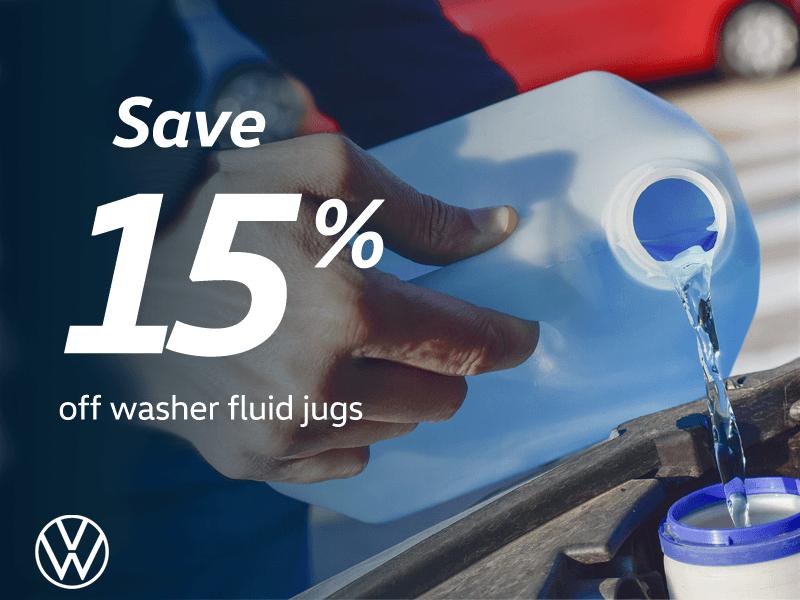 15% Off Washer Fluid Jugs