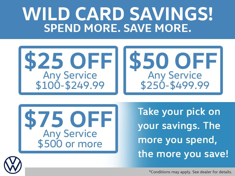 Wild Card Savings!