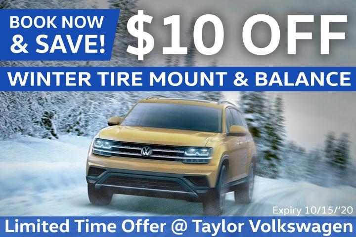 $10 OFF Tire Mount & Balance