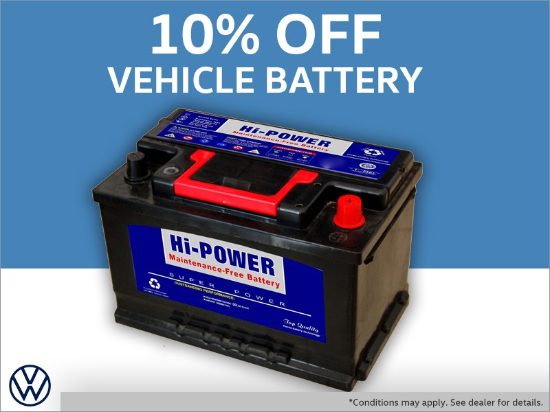 Discount on Vehicle Batteries