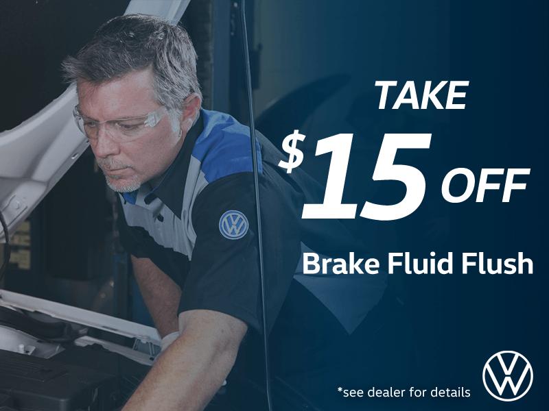 $15 OFF Brake Fluid Flush